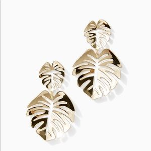Lilly Pulitzer Gold Palm Earrings